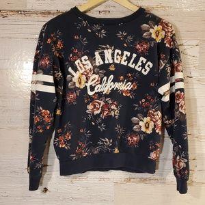 Los Angeles floral crew-neck sweatshirt